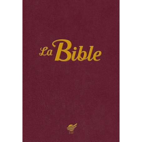 Bible Segond 1910 - souple grenat