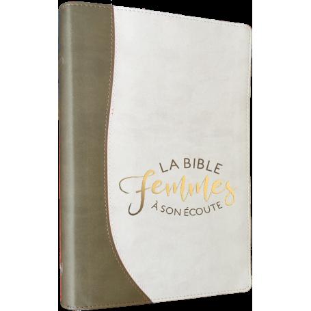 Bible femmes à son écoute - souple - sable/blanc