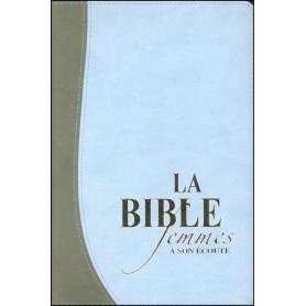 Bible femmes à son écoute - souple PU gris/bleu