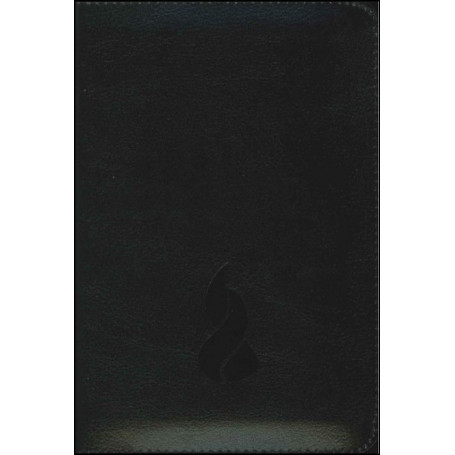 Bible NEG mini souple fibrocuir noir fermeture éclair tr. or