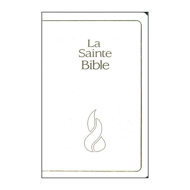 Bible NEG compacte souple fibrocuir blanc tranche or