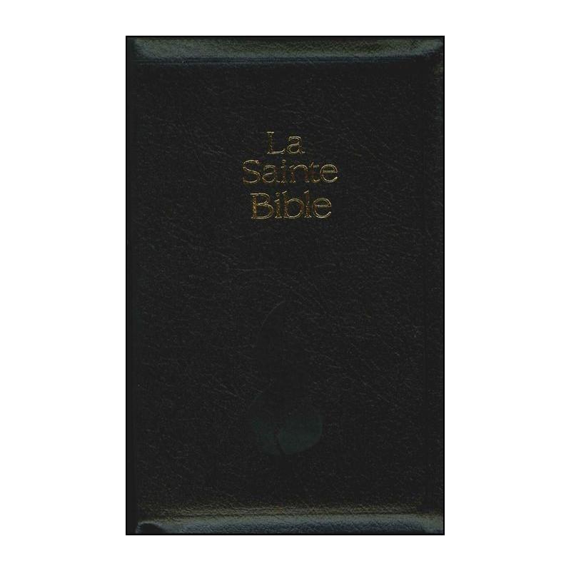 Bible NEG compacte souple fibrocuir noir fermeture éclair tr.or