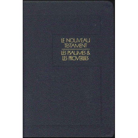Nouveau Testament NEG Psaumes et Proverbes cuir bleu f. éclair
