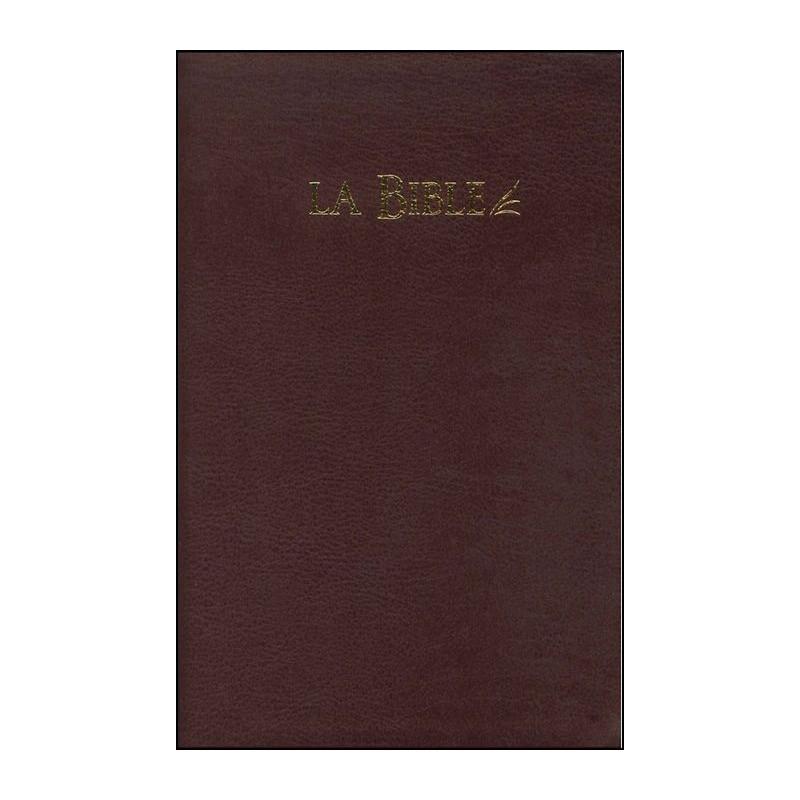 Bible Seg.21 souple fibrocuir bordeaux tranche or