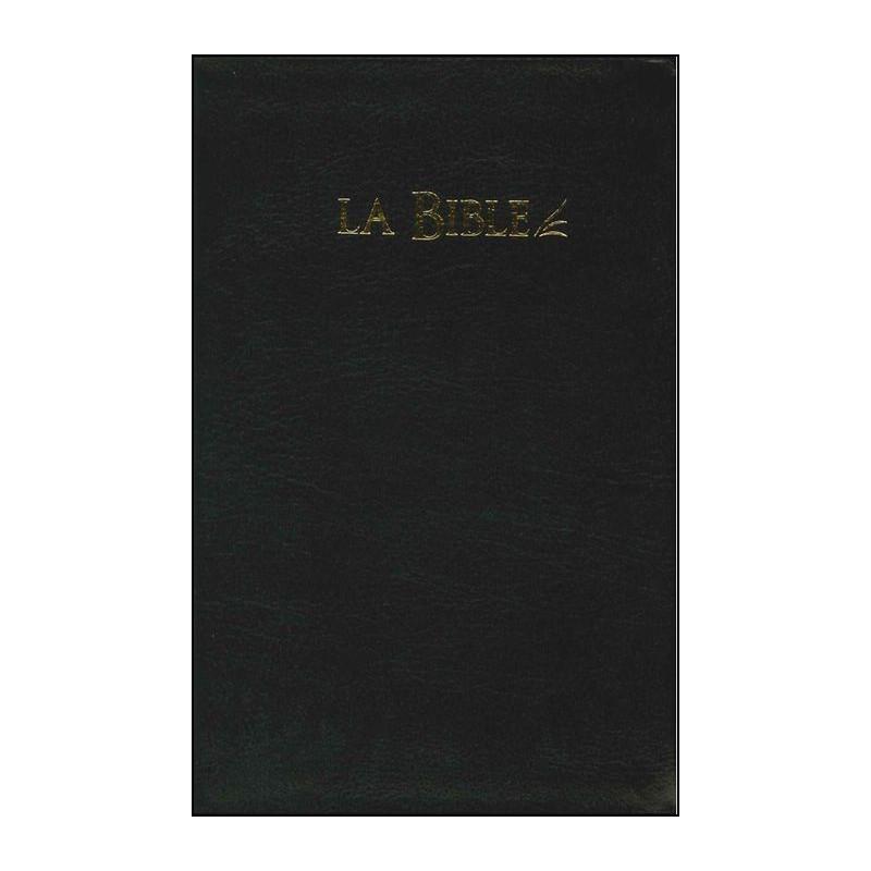 Bible Seg.21 souple fibrocuir noir tranche or