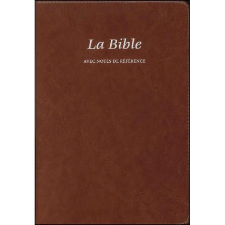 Bible Seg.21 notes de référence souple similicuir brun
