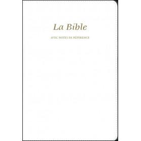 Bible Seg.21 notes de référence souple similicuir blanc tr. or
