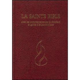Bible d'étude NEG commentaires C.I. Scofield rigide grenat