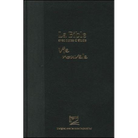 Bible Seg,21 Vie Nouvelle notes d'étude rigide toilée noir