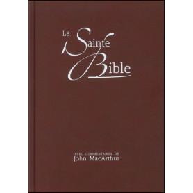 Bible NEG MacArthur rigide similicuir brun