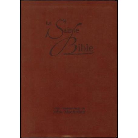 Bible NEG MacArthur souple similicuir brun