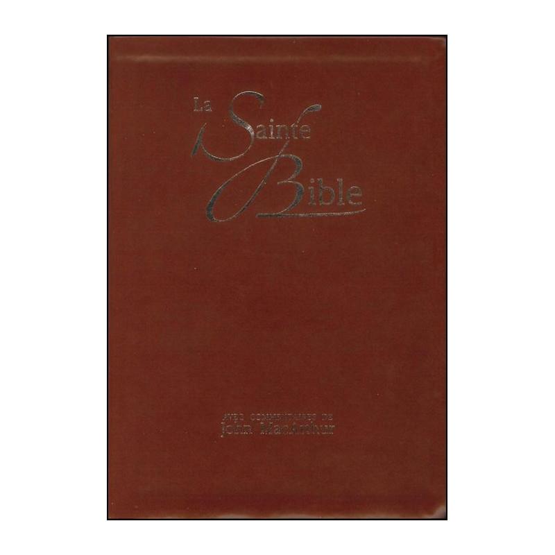 Bible NEG MacArthur souple similicuir brun onglets