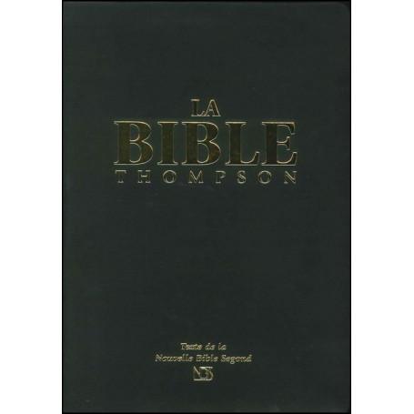 La Bible Thompson NBS souple vinyle onglets tranche dorée