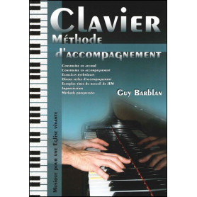 Clavier méthode d'accompagnement Guy Barblan