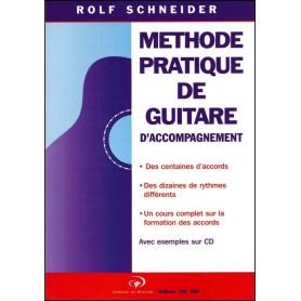 Méthode pratique de guitare d'accompagnement + CD Rolf Schneider