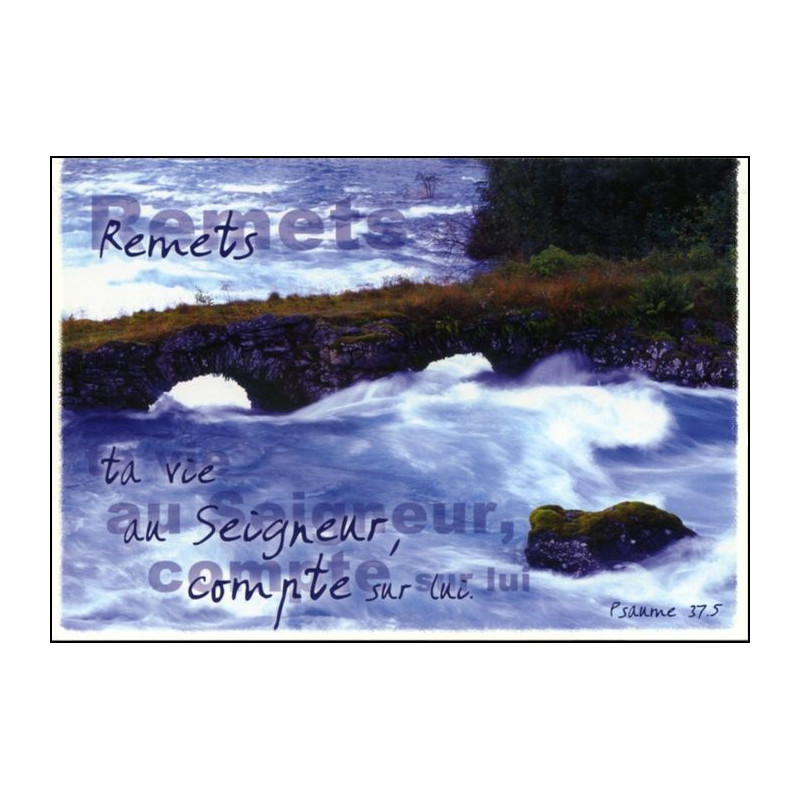 Carte simple Psaume 37 : 5