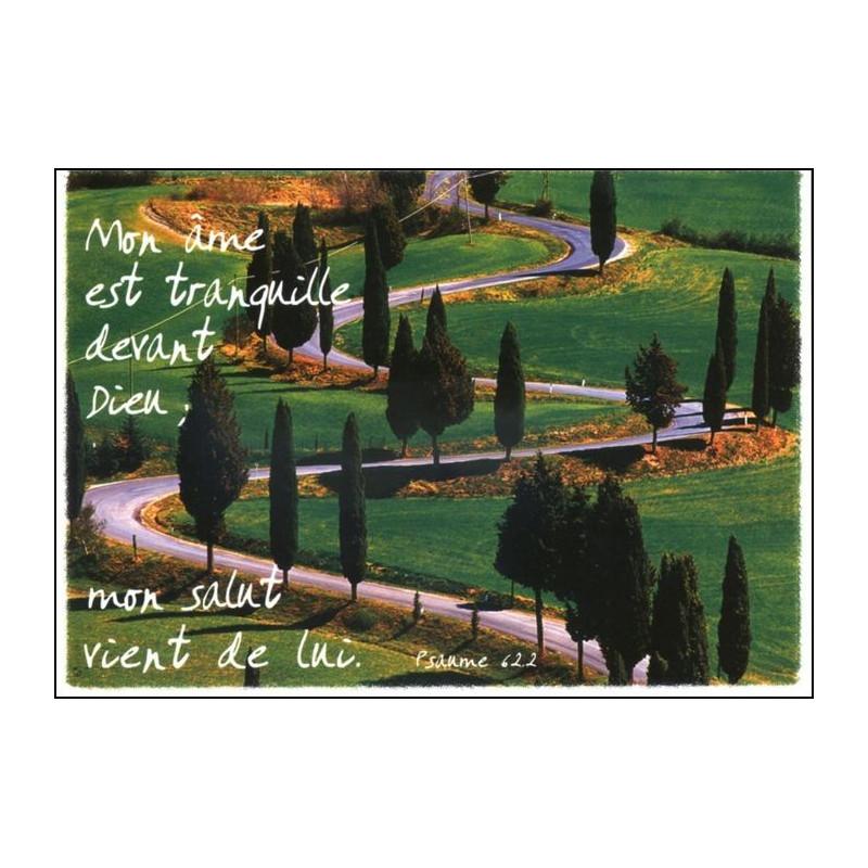 Carte simple Psaume 62 : 2