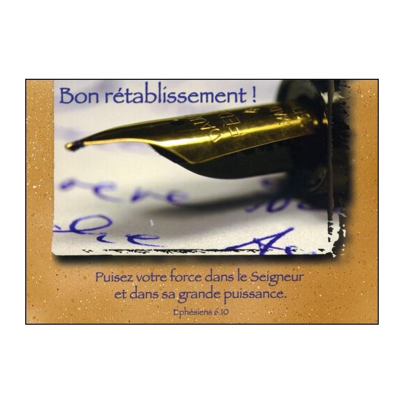 Carte simple Bon Rétablissement Ephésiens 6 : 10