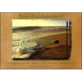 Carte simple Bon Rétablissement Lamentations 3 : 24