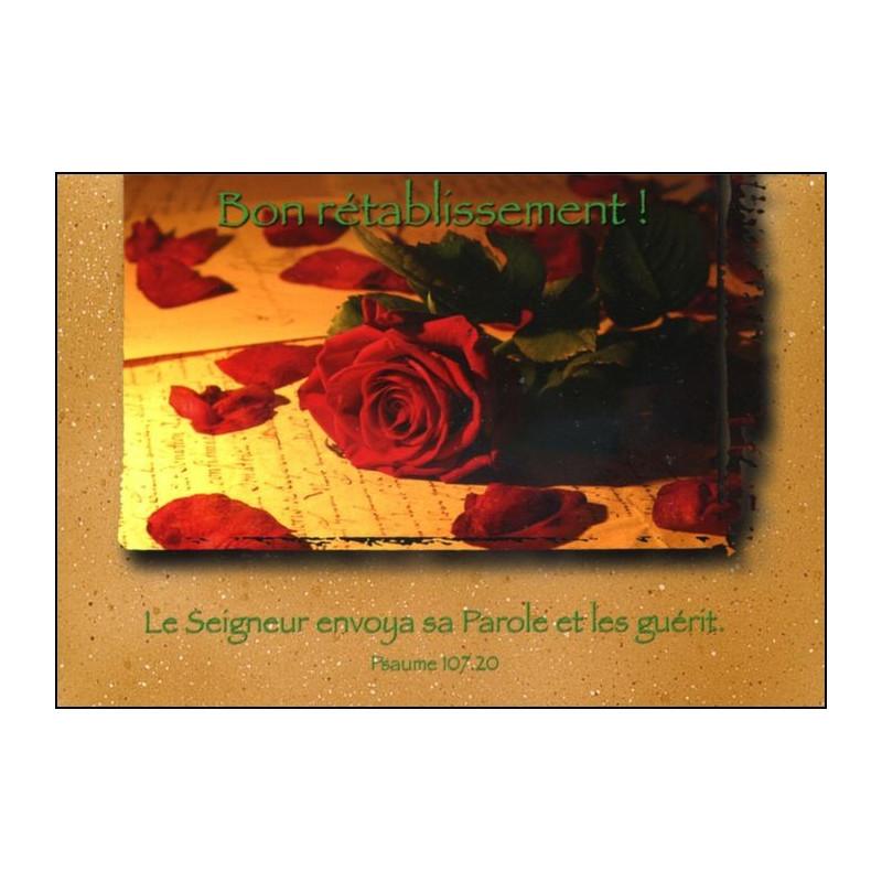 Carte simple Bon Rétablissement Psaume 107 : 20