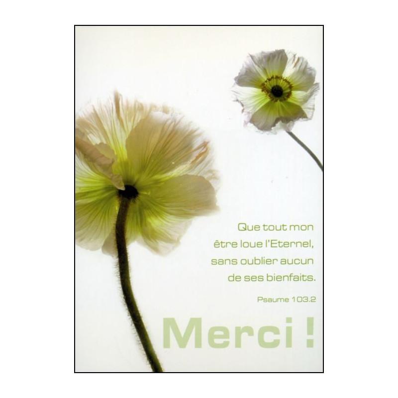Carte simple Merci Psaume 103 : 2