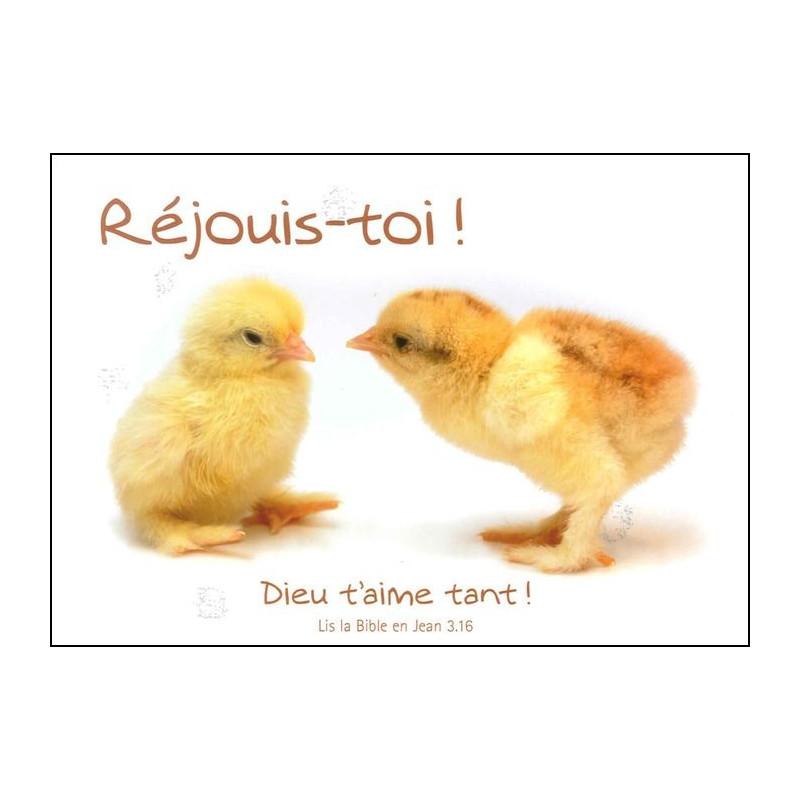 Carte simple Réjouis-toi Jean 3 : 16