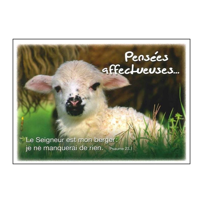 Carte simple Pensées Affectueuses Psaume 23 : 1
