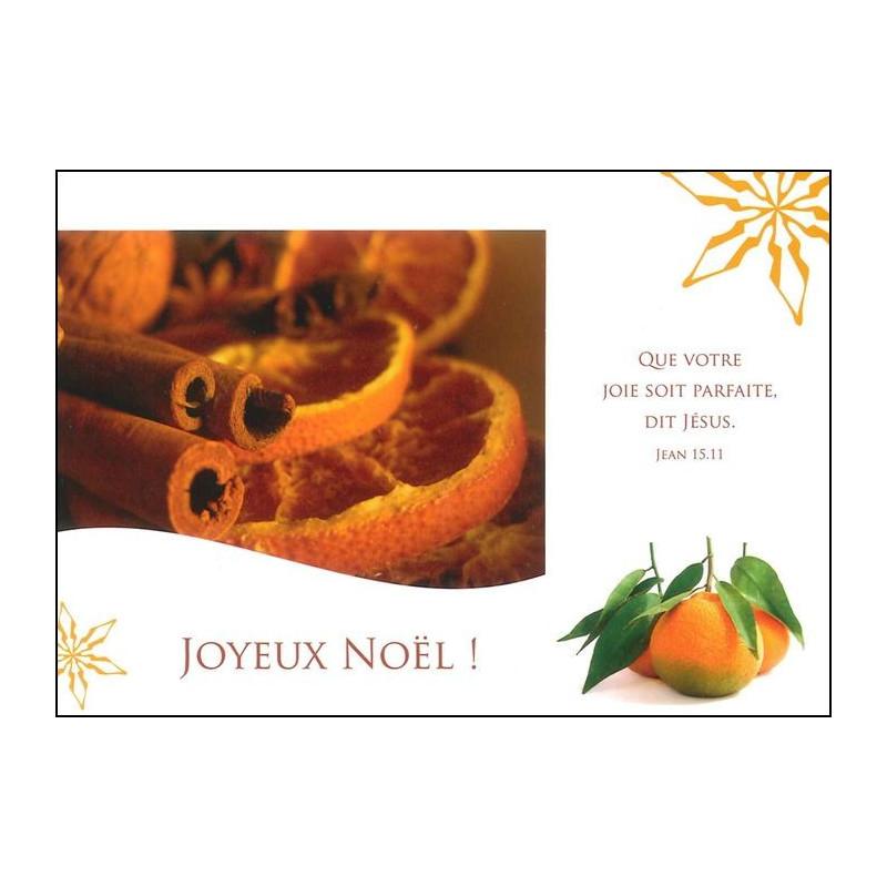 Carte simple Joyeux Noël Jean 15 : 11