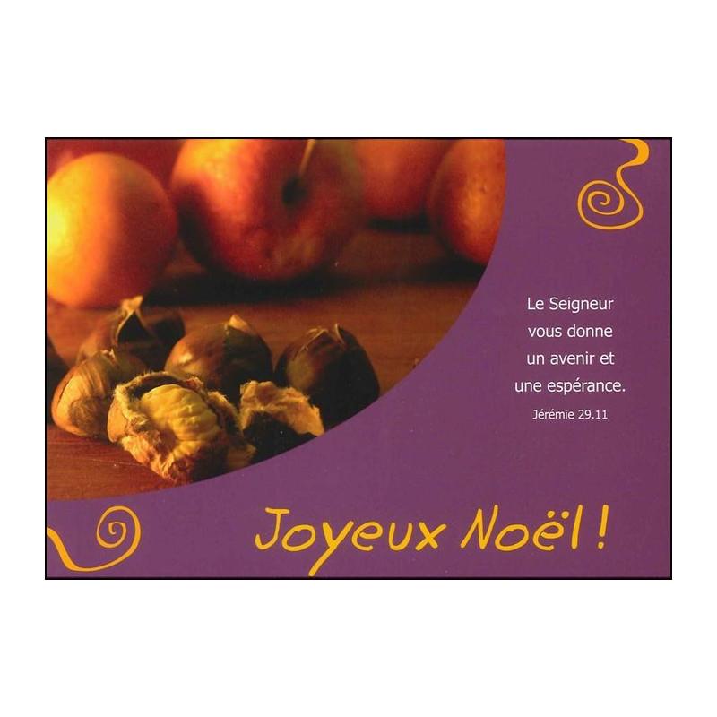 Carte simple Joyeux Noël Jérémie 29 : 11