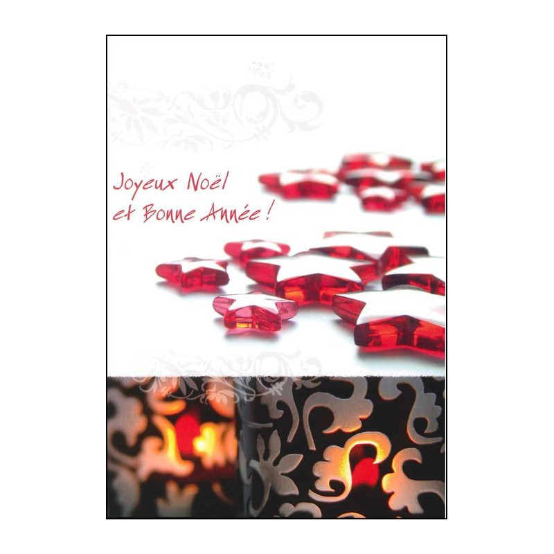Carte double Joyeux Noël et Bonne Année Esaîe 30 : 18