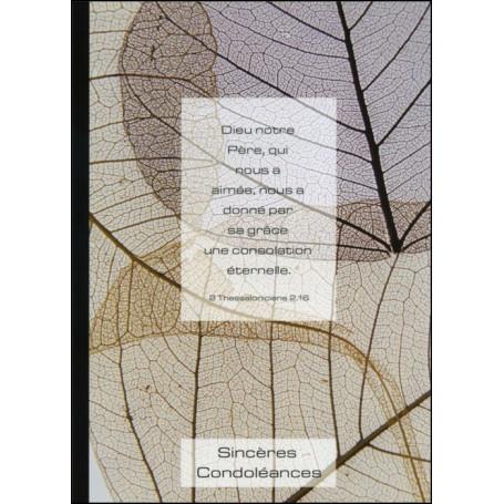 Carte double Condoléances 2 Thessaloniciens 2 : 16