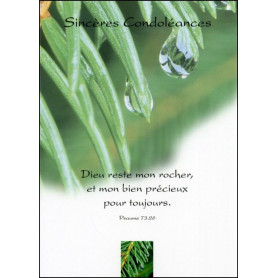 Carte double Condoléances Psaume 73 : 26