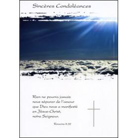 Carte double Condoléances Romains 8 : 39