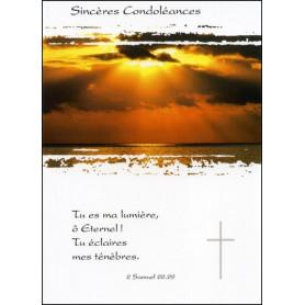 Carte double Condoléances 2 Samuel 22 : 29