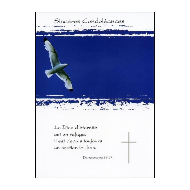 Carte double Condoléances Deutéronome 33 : 27