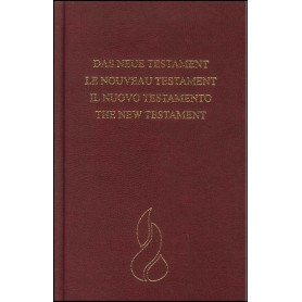 Nouveau Testament Allemand Français Italien Anglais rig. grenat