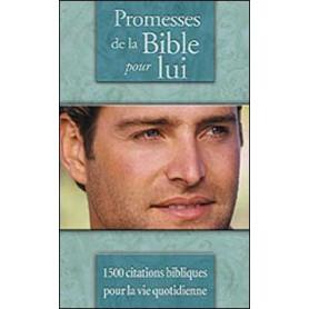 Promesses de la Bible pour lui