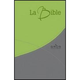 Bible Segond 21 gros caractères souple PU duo vert/gris