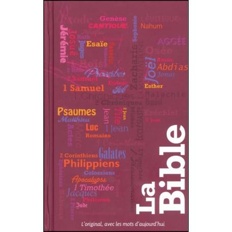 Bible Segond 21 compacte semi-rigide illutrée typo