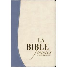 Bible femmes à son écoute - souple PU bleu/beige