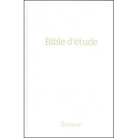 Bible Semeur d'étude rigide blanc