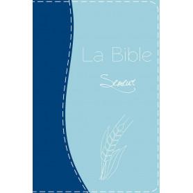 Bible Semeur gros caractères souple bleue