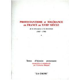 Protestantisme et tolérance en France au 18 ème siècle