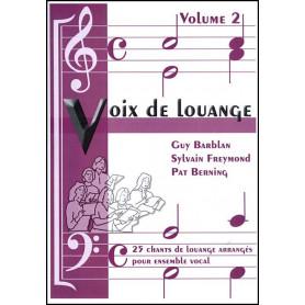 Recueil Voix de louange vol 2 (arrangement pour ensemble vocal)