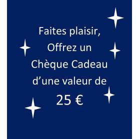chèque-cadeau 25 €