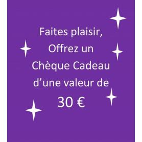 chèque-cadeau 30 €
