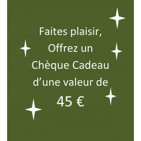 chèque-cadeau 45 €