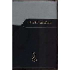 Bible NEG Gros Caractère Souple Duo noir zipper