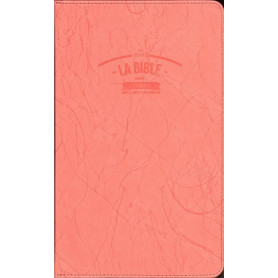 Bible Segond 21 Slim souple similicuir rose zipper