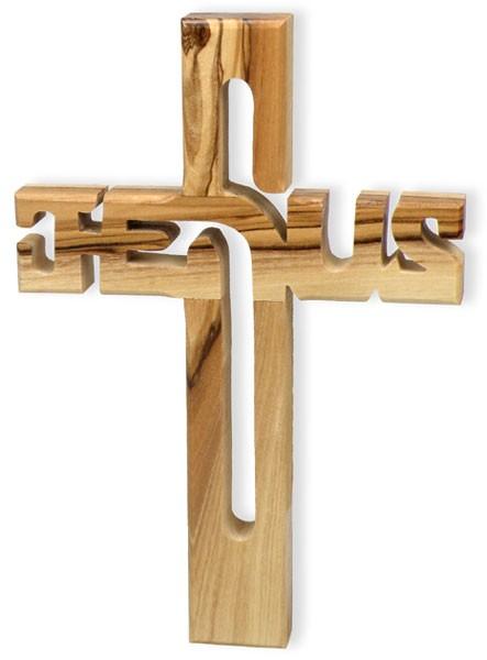 Assez Croix Jésus en bois d'olivier 10,5x15cm - 72622 - La Centrale Biblique MJ38